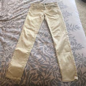 Zara denim jeans, tan